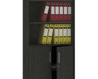 Alpha glass tall bookcase merk Melody