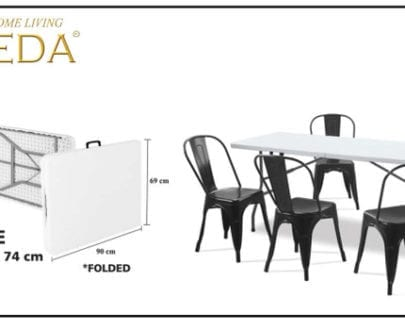 meja lipat aveda agace grey subur furniture